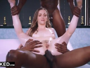BLACKED - This bored wife found what she needed with two BBCs anal cock