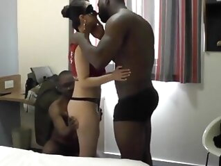 Cuckold Husband Shares His Gorgeous Wife With Two BBCs, part1 interracial milf