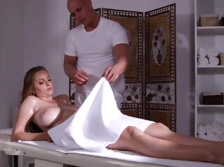 Busty blonde came for a massage and got a cock into pussy anal big tits