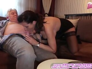 Kinky German Big Tits Mature Mom Seduced Old Man brunette big tits