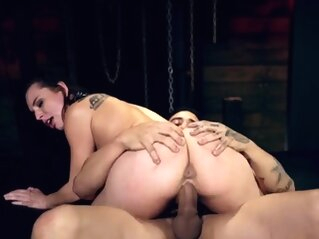 Teen threesome stockings Best mates Aidra Fox and Kharlie St bdsm blowjob