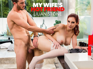 Lilian Stone Tries On Her Friend's Lingerie And Gets Caught By The Husband - MyWife'sHotFriend mywife'shotfriend