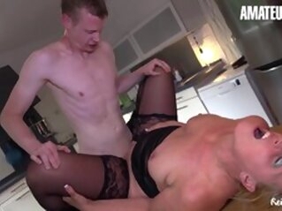 Naughty Horny Big Ass Mature Drilled From Behind blowjob hardcore