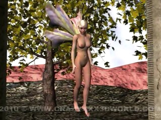 3D Animation: Fairy and Dragon 3d toons